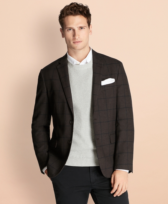 Windowpane Stretch-Cotton Sport Coat