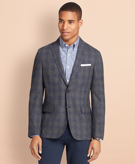 Plaid Wool-Cashmere Sport Coat