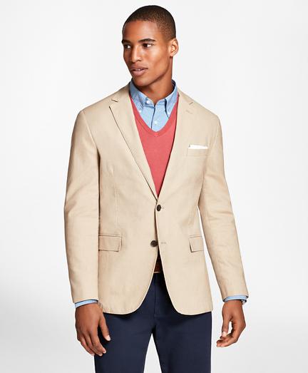 Heathered Stretch Cotton Twill Sport Coat