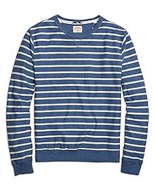 Herringbone Stripe Crewneck Shirt