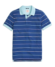 Four-Color Stripe Polo Shirt