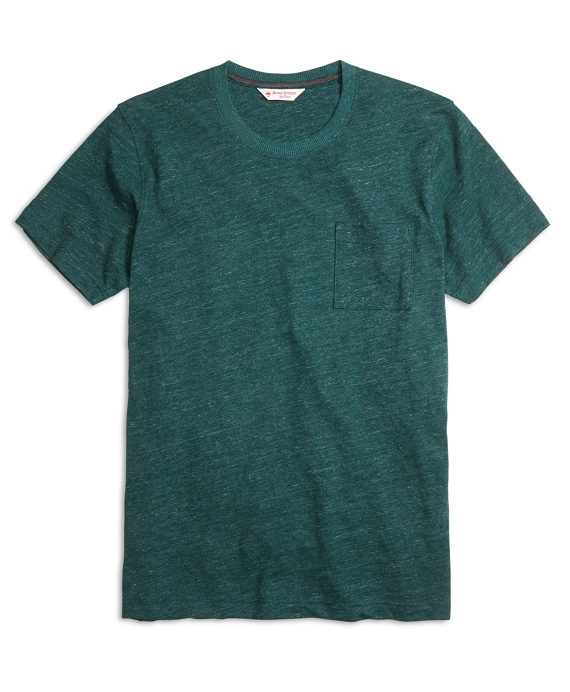 Slub Crewneck Pocket Tee Shirt