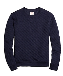 Jacquard Quilted Crewneck Sweatshirt