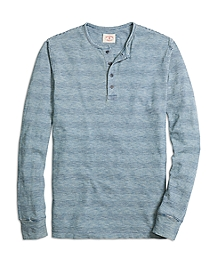 Long-Sleeve Stripe Henley