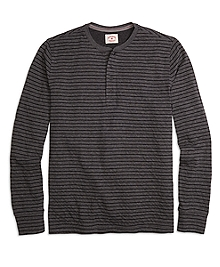 Long-Sleeve Thin Stripe Henley
