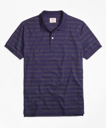 Anchor Stripe Polo Shirt