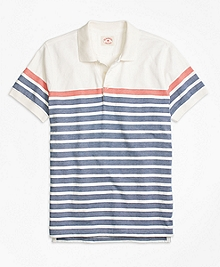 Herringbone Stripe Polo Shirt