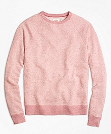 Heathered Raglan Crewneck Sweatshirt