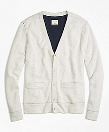 Dufold Cotton Button-Front Cardigan