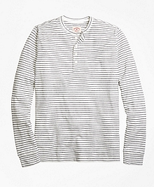 Long-Sleeve Double Pinstripe Henley