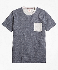Contrast Pocket Tee Shirt