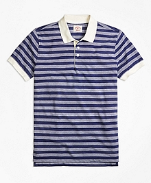 Dobby Stripe Polo Shirt