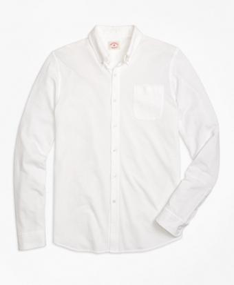 Long-Sleeve Button-Down Knit Shirt