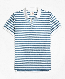 Heathered Stripe Polo Shirt