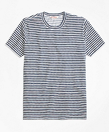 Heathered Micro Stripe Tee Shirt