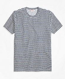 Heathered Micro Stripe Tee Shirt