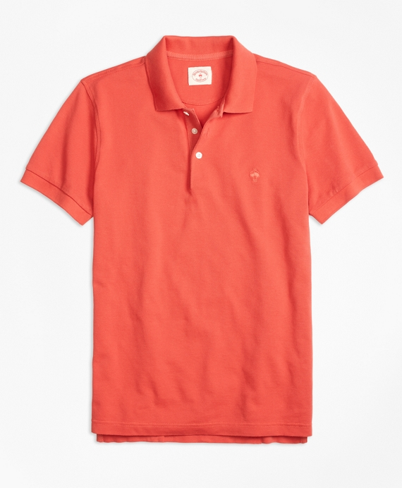 Solid Pique Polo Shirt Rust
