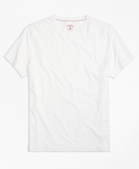 Garment-Dyed Tee Shirt White