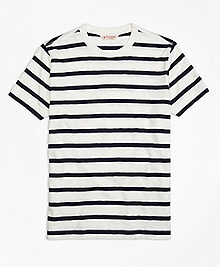 Slub Striped Tee Shirt