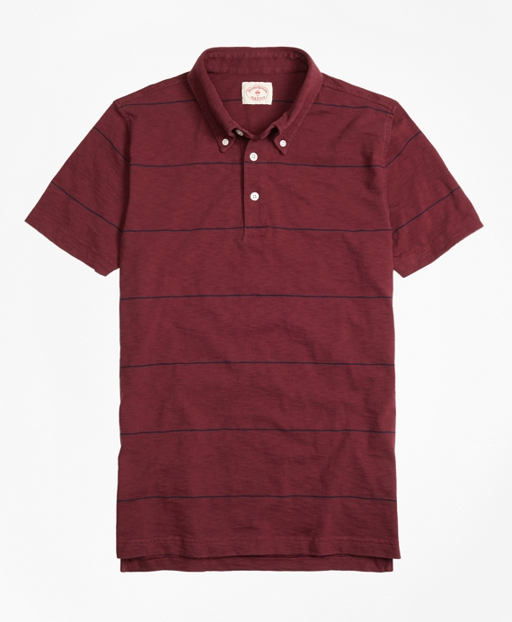 Slub Thin-Stripe Polo Shirt