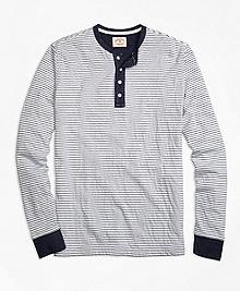 Micro-Stripe Dufold Cotton Henley