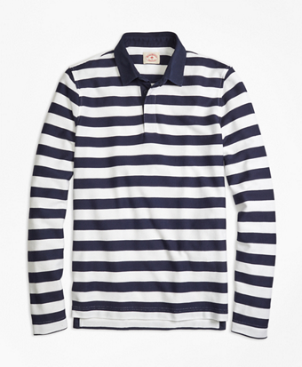 Long-Sleeve Striped Rugby Shirt
