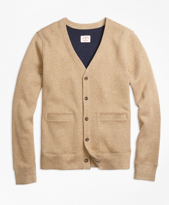 Double-Knit Cotton Cardigan - Brooks Brothers