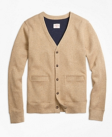 Double-Knit Cotton Cardigan
