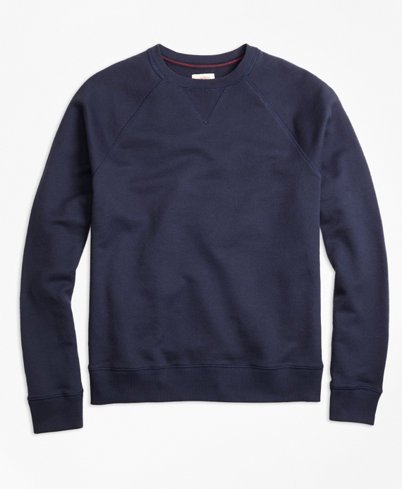 Terry Raglan Crewneck Sweatshirt - Brooks Brothers