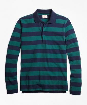 Long-Sleeve Stripe Rugby Shirt