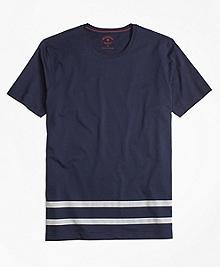 Stripe-Hem Jersey Tee Shirt