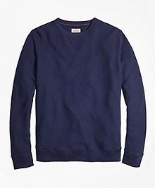 Pique Crewneck Sweatshirt