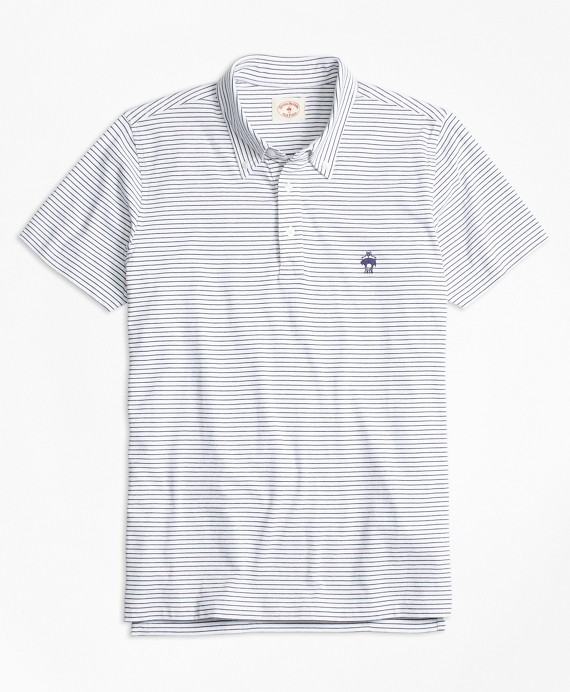 Feeder-Stripe Jersey Polo Shirt