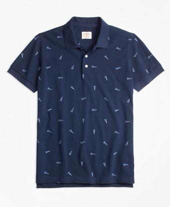 """""""1818"""" Pennant Pique Polo Shirt"""