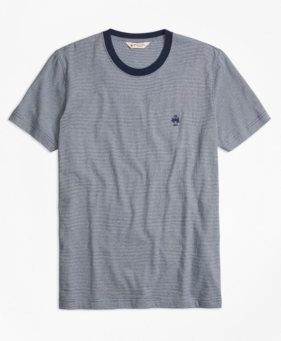 Micro-Stripe Jersey T-Shirt