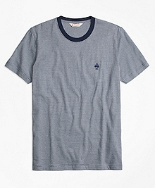 Micro-Stripe Jersey Tee Shirt