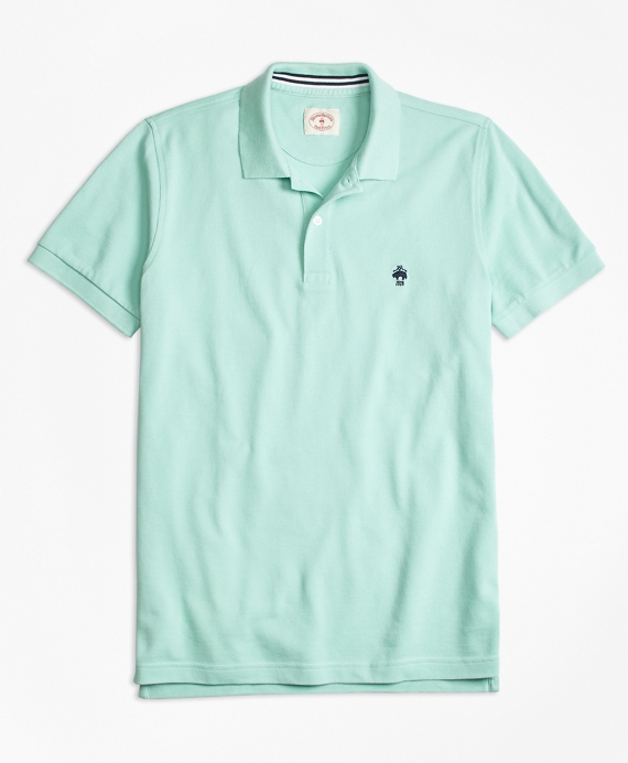 Solid pique polo shirt brooks brothers for Mint color polo shirt