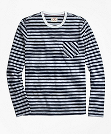 Long-Sleeve Sailor Stripe Tee Shirt