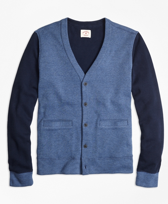 Double-Knit Cotton Cardigan Navy