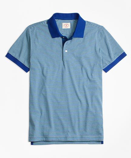 Stripe Pique Polo Shirt