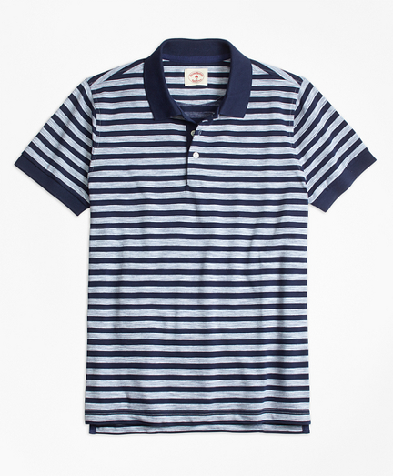 Sailor Stripe Jersey Polo Shirt