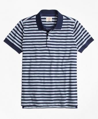 Sailor Stripe Jersey Polo Shirt