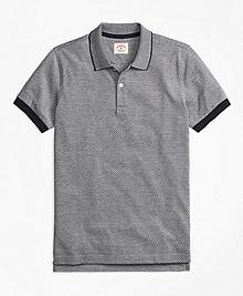 Polka Dot Pique Polo Shirt