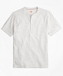 Slub Jersey Short-Sleeve Henley