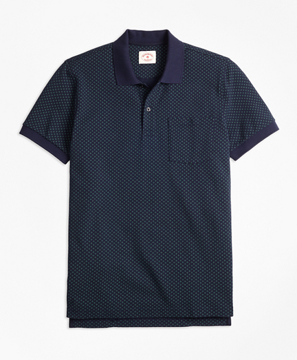 Foulard-Print Cotton Pique Polo Shirt