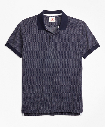 Bird's-Eye-Knit Cotton Polo Shirt