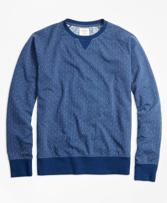Dobby-Dot French Terry Sweatshirt Blue