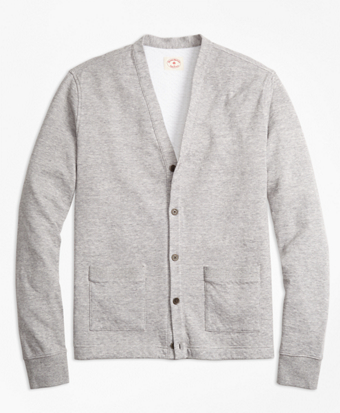 Double-Knit Pique Cardigan