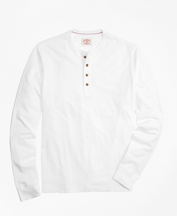 Garment-Dyed Henley White