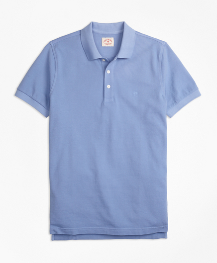 Garment-Dyed Cotton Pique Polo Shirt